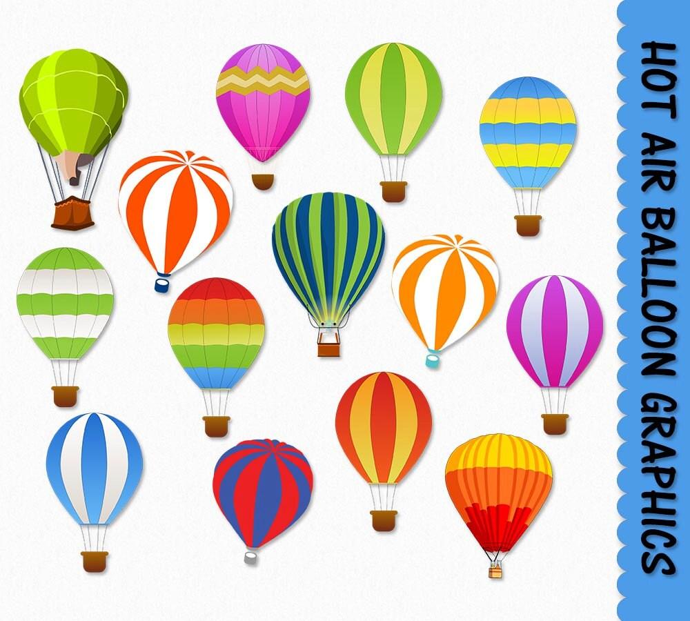 Hot Air Balloons Clip Art Balloon Clipart Graphic Scrapbook
