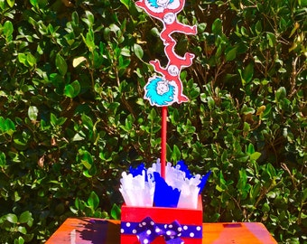 Dr Seuss Thing 1 Thing 2 birthday party decoration Centerpiece Birthday Baby Shower Birthday Favor Candy Buffet Guest Cat In The Hat