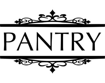 Pantry Door Decal