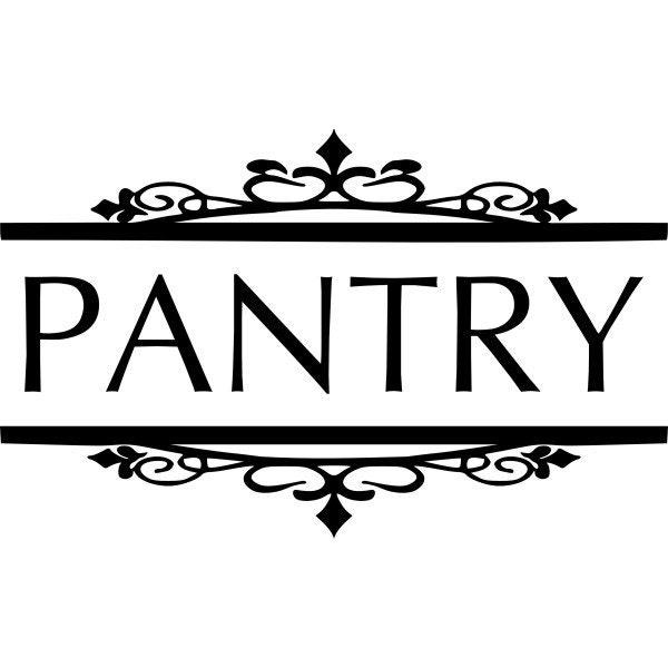 Pantry Door Decal