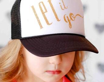 Let it go girls trucker hat