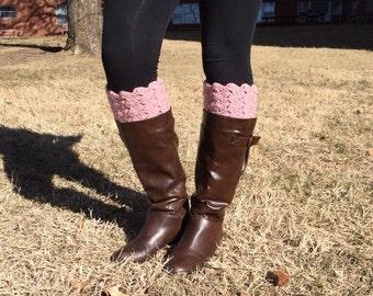 Soft Pink Boot Cuffs