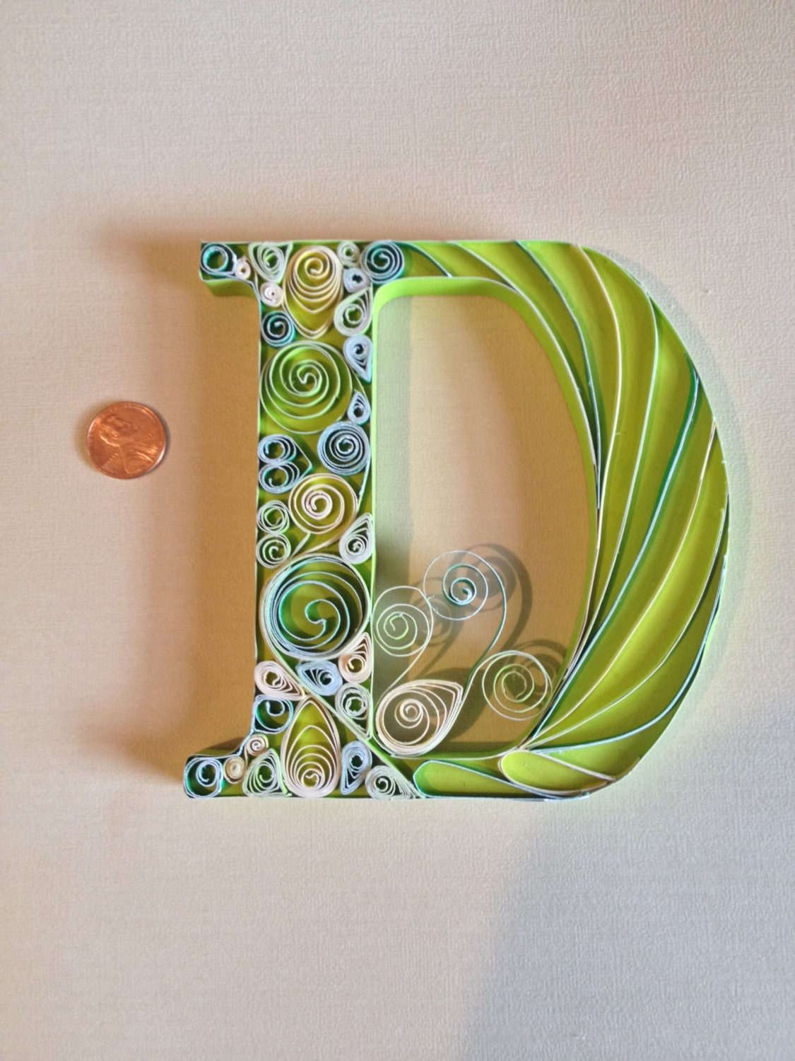 Quilled Wall Art Quilled Paper Art Quilled Letter Monogram