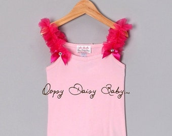 Pink Tank Top with Raspberry Ruffles