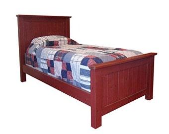 Twin Bed, Reclaimed Solid Wood, Headboard, Bed, Vintage, Rustic