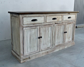 Sideboard, Server, Console Cabinet, Reclaimed Wood, Buffet, Vintage, Rustic, Shabby Chic, VMW174sb