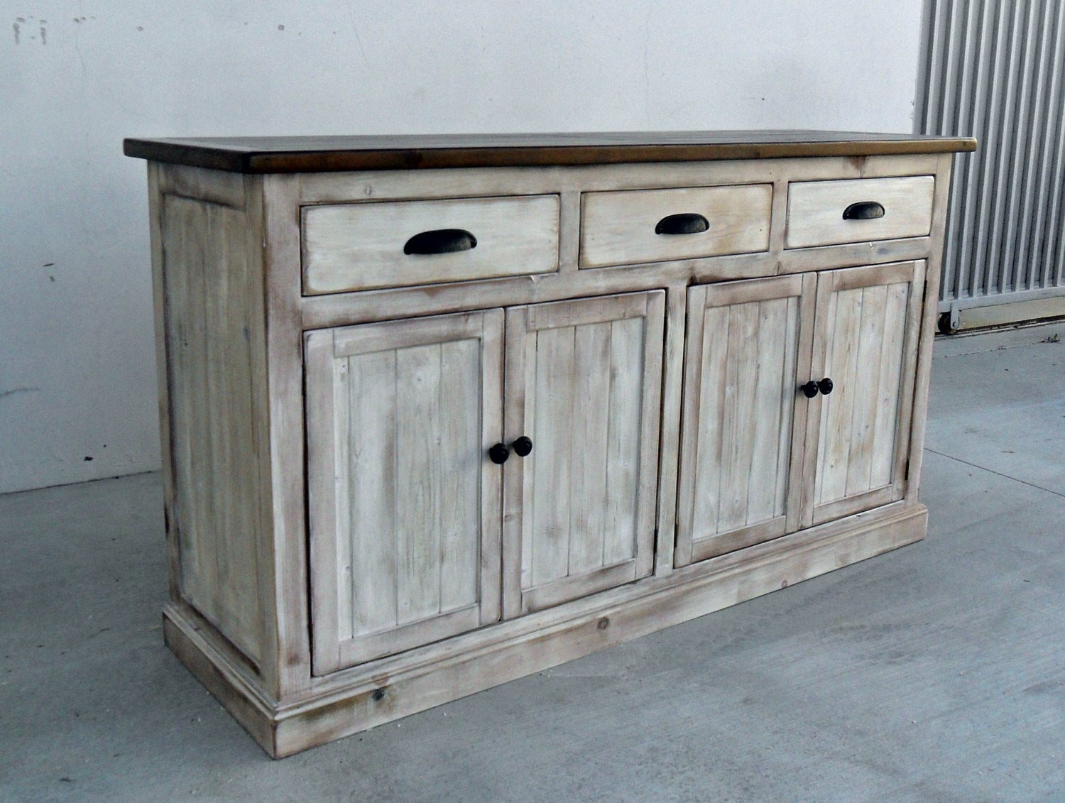 sideboard server console cabinet reclaimed wood buffet. Black Bedroom Furniture Sets. Home Design Ideas