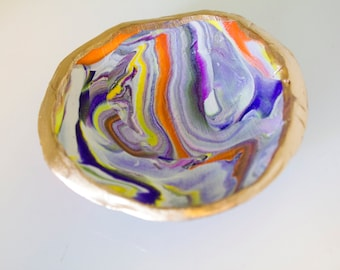 Jewelry Dish/Bauble Bowl (Purple,Orange,Yellow, White,Black)