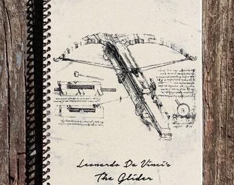 Da Vinci Journal - Da Vinci Notebook - Leonardo Da Vinci The Glider - Da Vinci Inventions - Inventions Notebook - Leonardo Da Vinci Drawings
