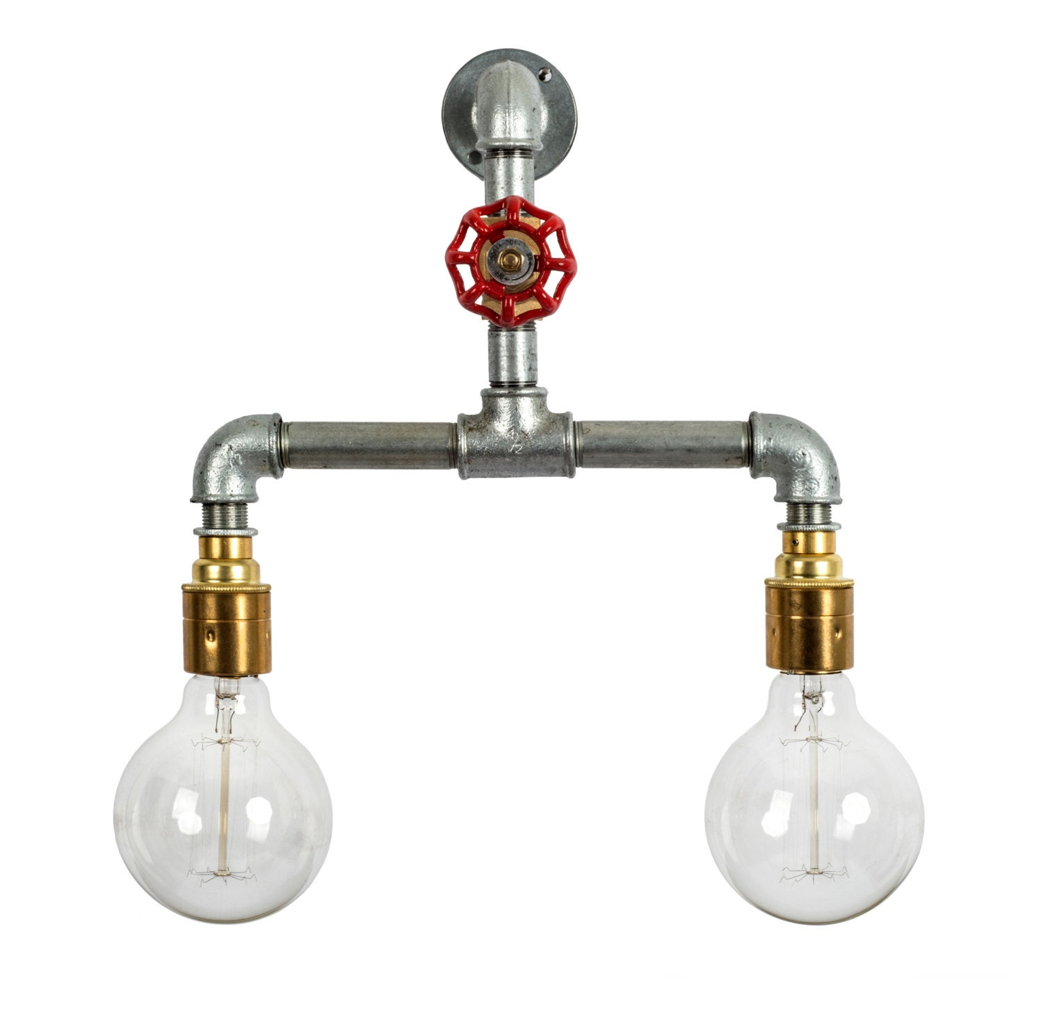 Pipe Lamp Industrial Lamp Urban Pipe Lamp By: Steel Pipe Light Industrial Wall Light E27