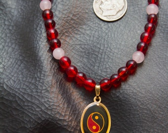 Yin/Yang beaded necklace