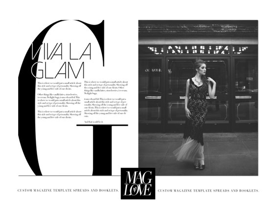 La Glam Article Magazine Spread Template