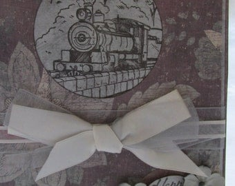 Vintage Stream Train Happy Birthday Card (for the train emthasis in your life)