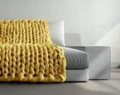 Grande punto. Super chunky Large blanket. Chunky knit blanket. Cozy blanket. Big yarn blanket. Merino wool. Giant knit blanket. Giant chunky