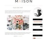 Premade Blogger Template - Maison Responsive Pink Clean DIY Blog Design - Instant Download