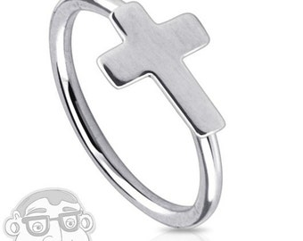20G Stainless Steel Cross Nose Ring