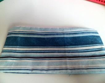 Blue striped Make up/Cosmetics bag