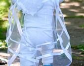 Handmade Baby boy Christening, Baptism white Cape