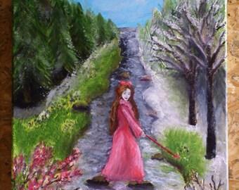 Fairy Spring, Four seasons, Fantasy , Original painting, Handmade by Silvia Dimova