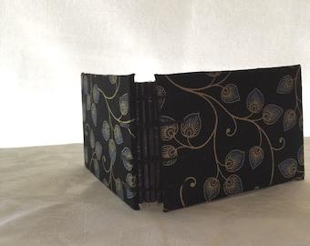 Mini Sketch Book with coptic Stitch (Flower vine cover)