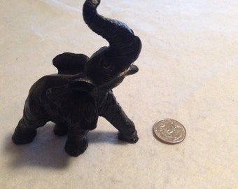 Black Stampeding Elephant