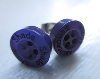 Abercrombie&Fitch purple mismatched earrings