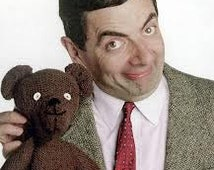 PDF Mr Bean's Toy Teddy Knitting Pattern x 2 - Rare, Retro - 2 versions - PDF instant download