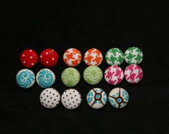 Fabric Covered Button Studs