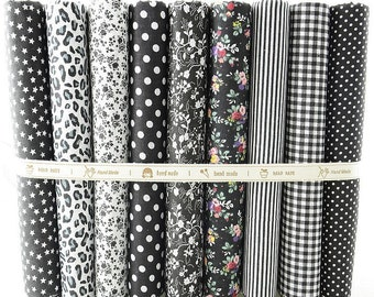 Fat Quarter Bundle - thin - BLACK SET collection - 9 fat quarters