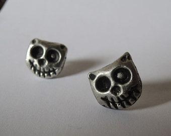 Zombie Kitty Cat Earrings
