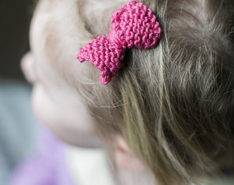 pink hair bow clip