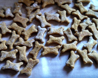 Peanut butter oatmeal doggie biscuits (small)