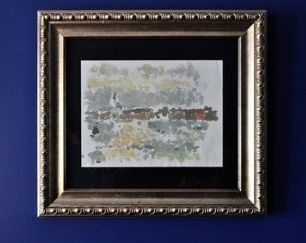 Original oil painting, framed, landscape painting Venice, Italy