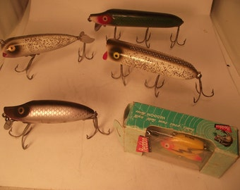 Vintage heddon fishing lure collection collectible fishing for Names of fishing lures