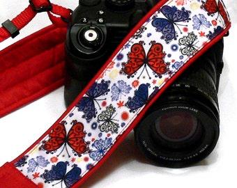 Butterflies Camera Strap.