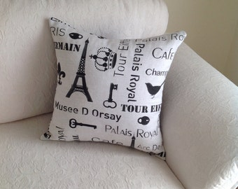 Paris themed cushion