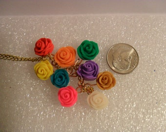 Polymer Clay Rose Pendants