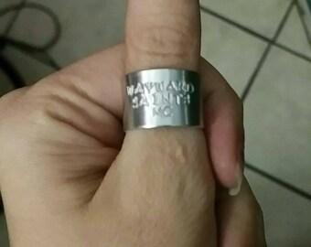 Wayward Saints MC Hand Stamped Ring