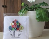 Button Cupcake Card (Blank)