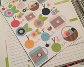 Knitting Night Stickers for your Erin Condren Life Planner, Plum Paper Planner, Filofax, and more!