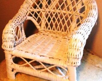1980's Miniature Wicker Chair