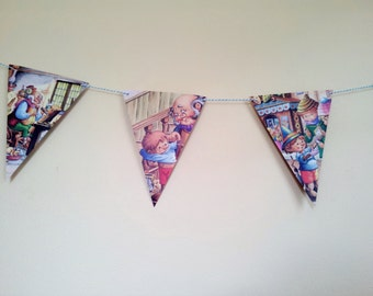 PINOCCHIO Fairy Tale Paper Bunting - Nursery, Baby Shower, Party, Children's Room decoration.