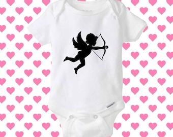 Angel cupid love baby onesie, shirt baby onesie, baby onesie clothing