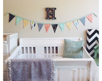 Colorful Pennant Banner for Kids Room