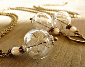 Dandelion- Set Bronze/ Genuine Dandelions