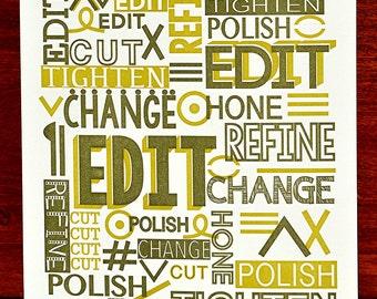 Edit Letterpress Poster