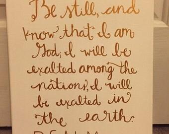 Psalm 46:10 canvas