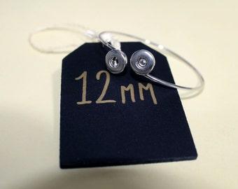 12mm Double Snap Bangle - Interchangeable Snap Jewellery