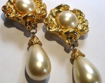Jacky de G Paris Pearl Earrings