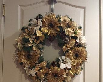 Handmade artificial holiday wreath
